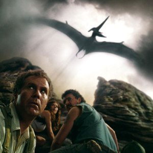 An unsuspecting Will Ferrell is about to get tea-bagged by that pterodactyl....