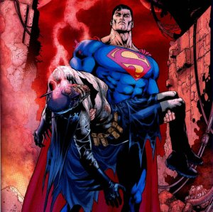 Would the Man of Steel carry Dick like this?