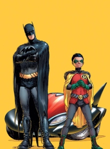 The new Batman and Robin. They're both Dicks.