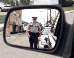 cop pulled over