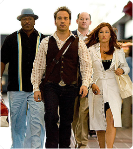"Jeremy Piven as.....well, probably ""Ari, only selling cars"" in 'The Goods'"