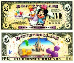 2009 $5 Disney Dollars