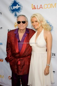 Hugh Hefner and girlfriend Holly Madison